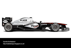 سيارة فورمولا واحد حديثة مكلارين 2005