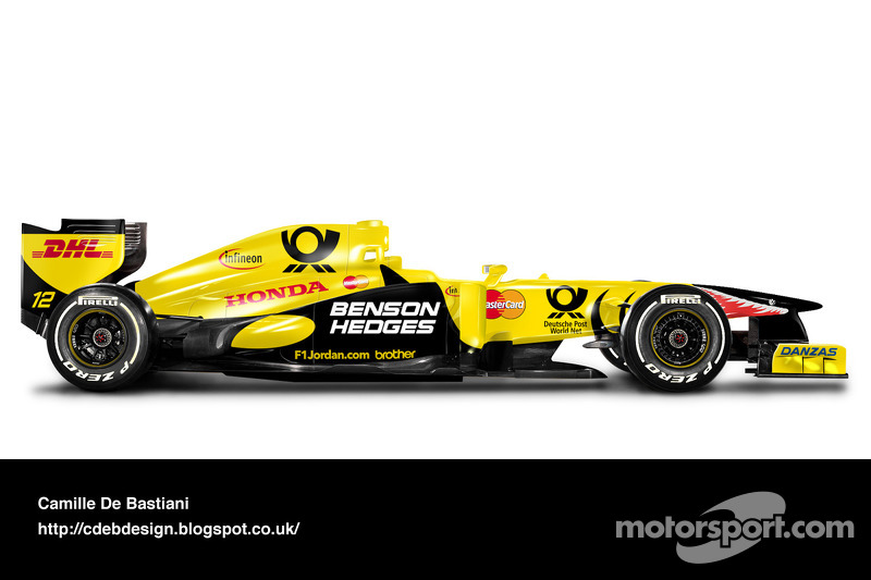 Formel-1-Auto im Retrodesign: Jordan 2001