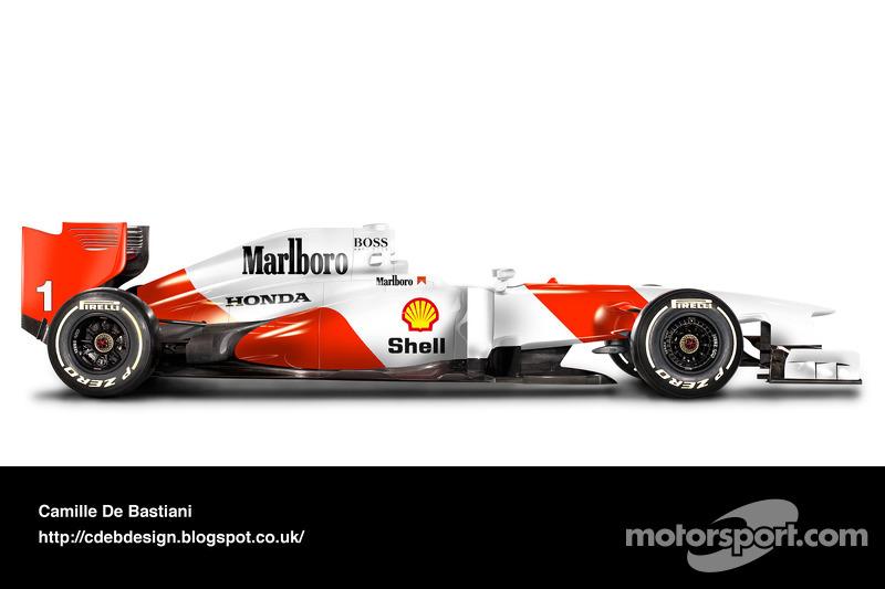 Carro de F1 retrô - McLaren 1992
