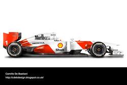 Retro F1 car - McLaren 1992