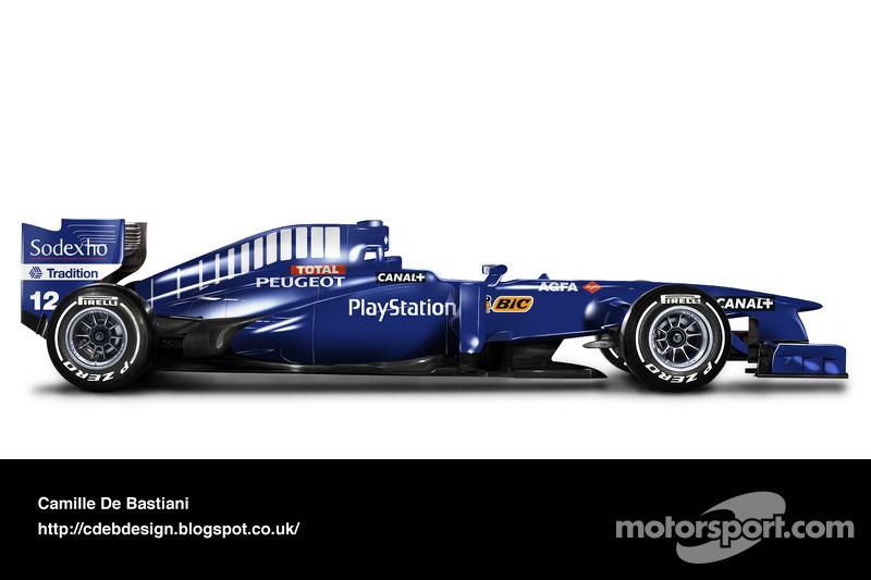 Carro de F1 retrô - Prost 1998