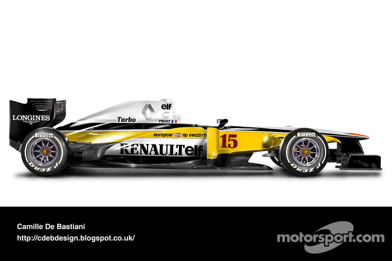 Formel-1-Auto im Retrodesign: Renault 1982