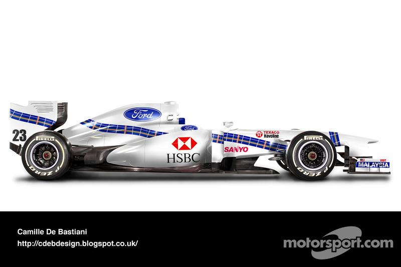 Carro de F1 retrô - Stewart 1997
