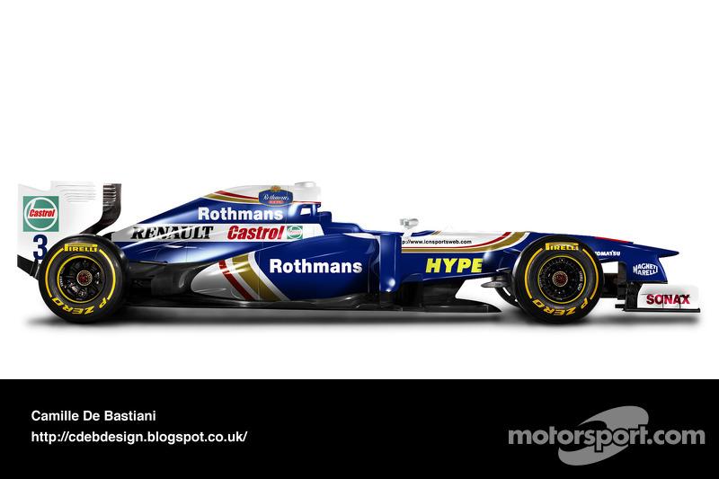 سيارة فورمولا واحد حديثة بألوان ويليامز 1997