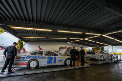 Car of Trevor Bayne, Wood Brothers Racing Ford at tech inspection