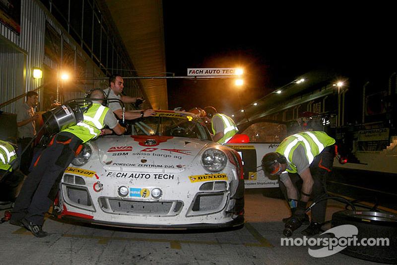 #4 Fach Auto Tech Porsche 997 GT3 R: Otto Klohs, Martin Ragginger, Sebastien Asch, Connor de Phillippi