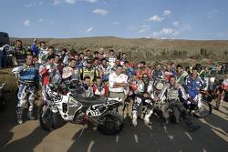 Bike riders group shot