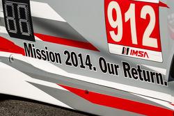 #912 Porsche North America Porsche 911 RSR message: Mission 2014. Our Return.