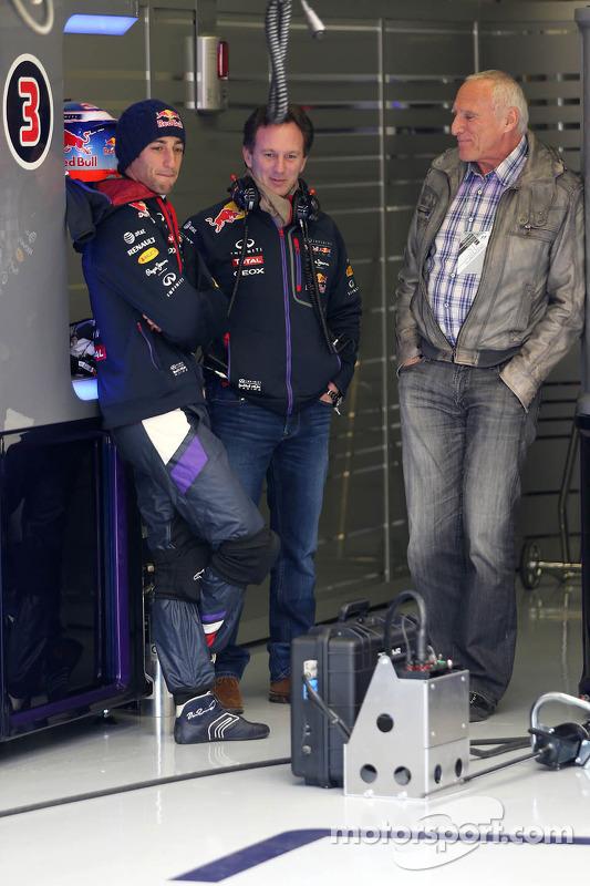 Daniel Ricciardo, Red Bull Racing, Christian Horner, Red Bull Racing e Dietrich Mateschitz, dono da