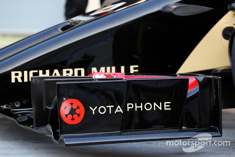 La Lotus F1 E22 è ufficialmente svelata - ala anteriore