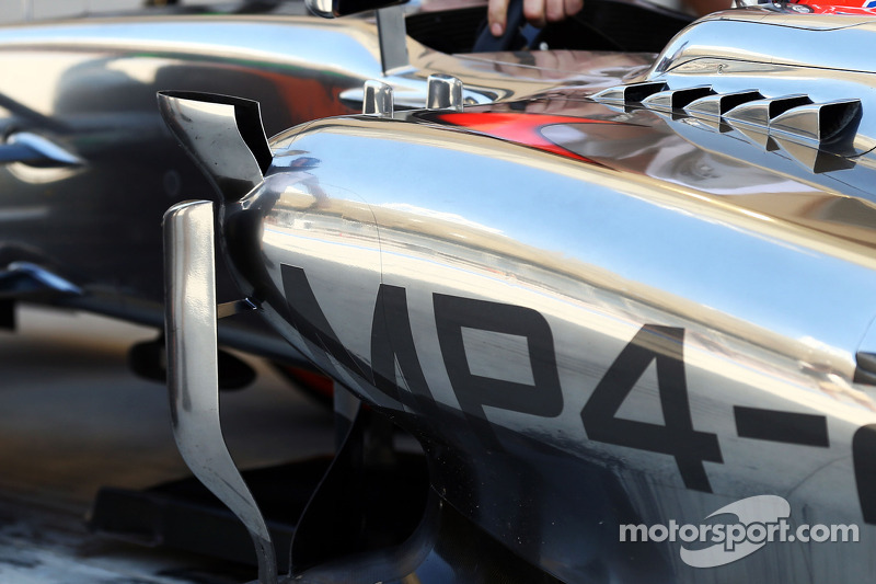 Jenson Button, McLaren MP4-29 dettaglio fiancata