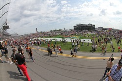 Fans on the infield