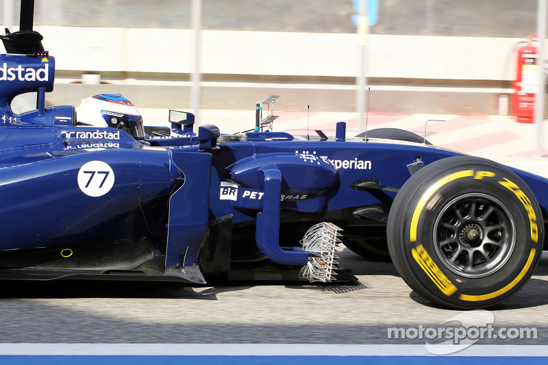 Valtteri Bottas, Williams FW36 sensori di velocità sul fianco