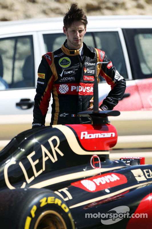 Defekt: Romain Grosjean, Lotus F1 E22