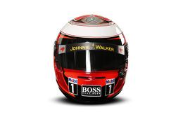 The helmet of Kevin Magnussen, McLaren