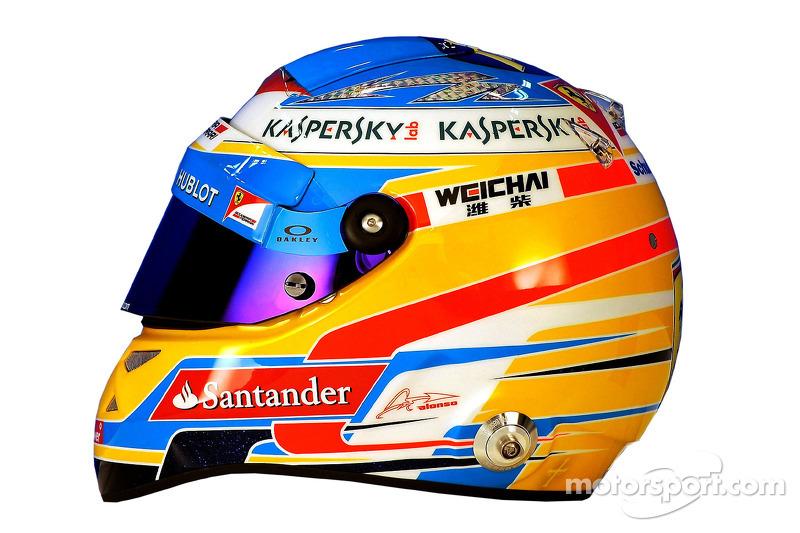 Il casco di Fernando Alonso, Ferrari