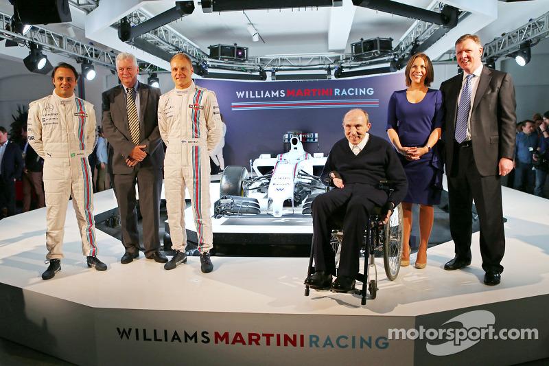 Felipe Massa ve Valtteri Bottas, Pat Symonds, Sir Frank Williams, Claire Williams, Williams Martini