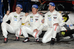 GTLM winners Jörg Bergmeister, Patrick Long, Michael Christensen