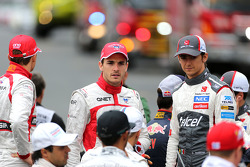 Esteban Gutierrez, Sauber F1 Team and Jules Bianchi, Marussia F1 Team