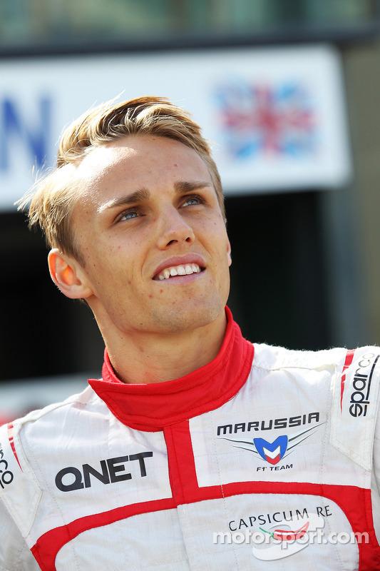 Max Chilton, da equipe Marussia F1, em uma fotografia da equipe
