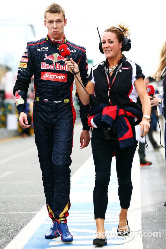Daniil Kvyat, Scuderia Toro Rosso ve Natalie Pinkham, Sky Sports Sunucusu