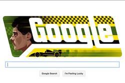 Ayrton Senna Google Doodle tarafından yapılan doğum günü anısı
