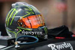 The helmet of Kyle Busch