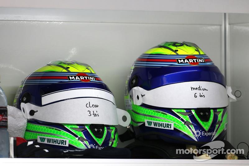 Caschi di Felipe Massa, Williams F1 Team