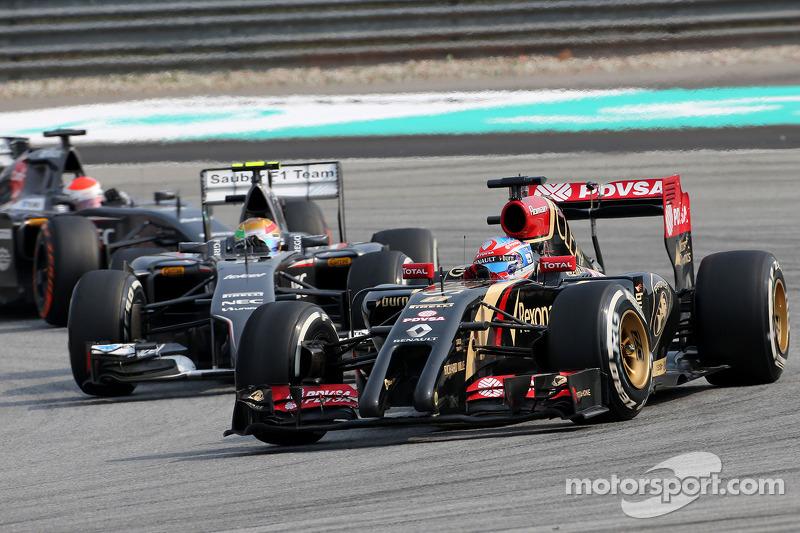 Romain Grosjean (FRA), Lotus F1 Team e Esteban Gutierrez (MEX), Sauber F1 Team 30