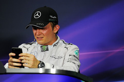 Second placed Nico Rosberg, Mercedes AMG F1 in the FIA Press Conference