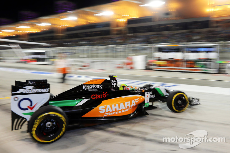 Sergio Perez, Sahara Force India F1 VJM07, lascia i box