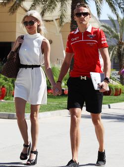 Max Chilton, Marussia F1 Team with his girlfriend Chloe Robert (GBR)
