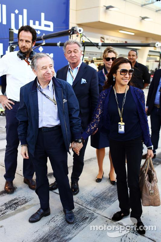 Jean Todt, presidente della FIA con Michelle Yeoh (MAL)