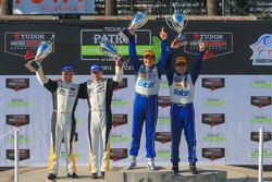 #3 Corvette Racing Chevrolet Corvette C7.R: Jan Magnussen, Antonio Garcia and #01 Chip Ganassi Racing Riley Ford: Scott Pruett, Memo Rojas
