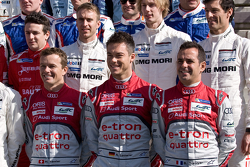 Marcel Fässler, Andre Lotterer and Benoit Tréluyer