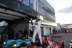 Race winner Tristan Gommendy celebrates