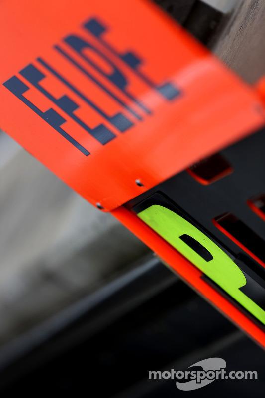 Boxentafel für Felipe Massa, Williams