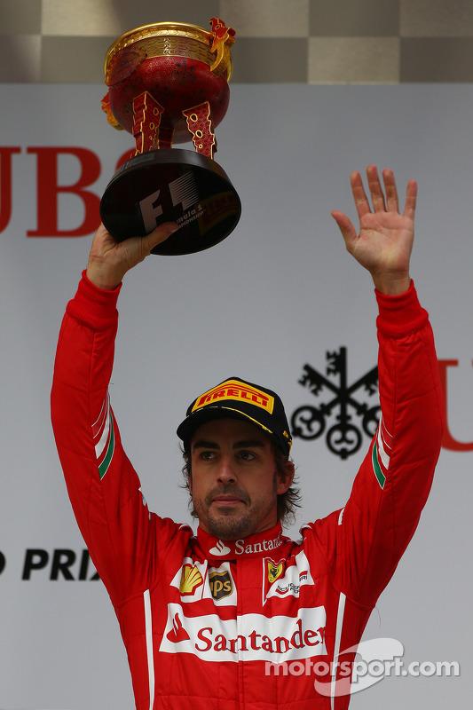 terceiro colocado Fernando Alonso, Ferrari