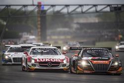 Largada: #3 G-Drive Racing Audi R8 LMS Ultra: Stéphane Ortelli, Grégory Guilvert lidera