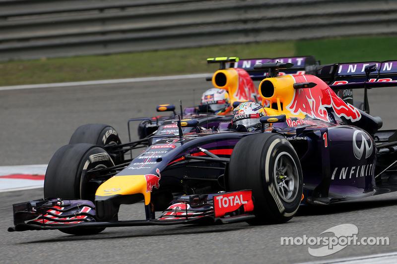 Sebastian Vettel, Red Bull Racing e Daniel Ricciardo, Red Bull Racing
