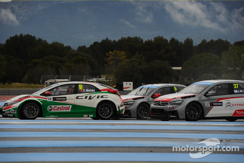 Tiago Monteiro, Honda Civic WTCC, Castrol Honda WTCC squadra, Sébastien Loeb, Citroën C-Elysee WTCC,