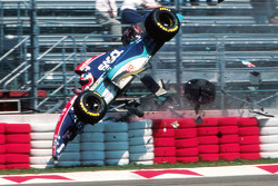 Rubens Barrichello, Jordan involved in a huge crash