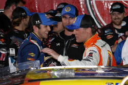 Chase Elliott and race winner Kevin Harvick