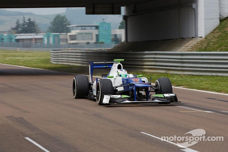 Simona de Silvestro prueba un Sauber F1