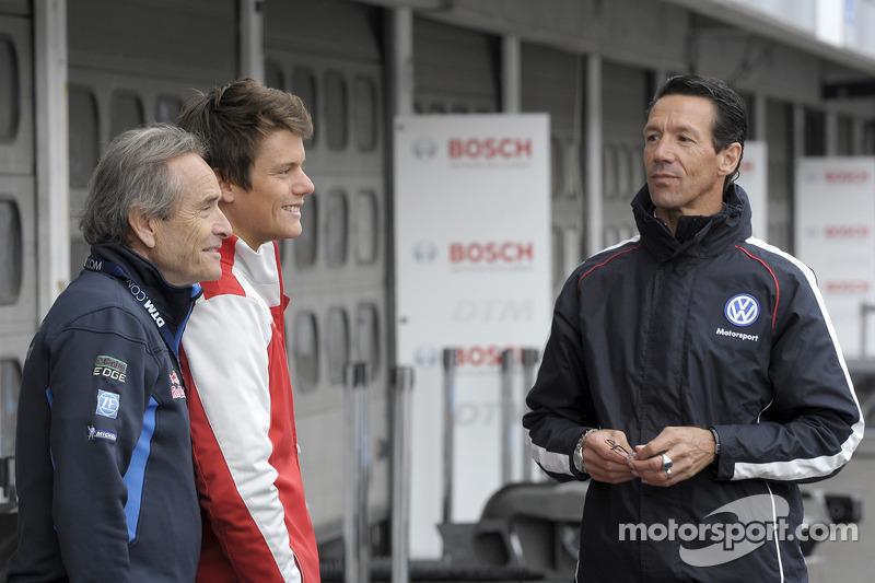 Jacky Ickx, Audi Sport Team Abt, Audi RS 5 DTM, Portrait; y Manuel Reuter (GER)