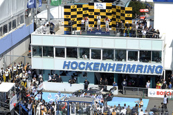Podum, Mattias Ekstrom, Audi Sport Team Abt Sportsline, Audi RS 5 DTM, Marco Wittmann, BMW Team RMG, BMW M4 DTM,Adrien Tambay, Audi Sport Team Abt, Audi RS 5 DTM,