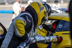 Corvette pit crew practicing pit stop