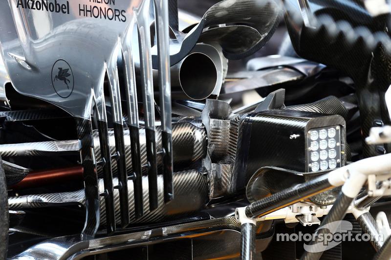 McLaren MP4-29 detalle difusor trasero