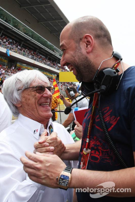 (Soldan Sağa): Bernie Ecclestone ve Gerard Lopez, Lotus F1 Takım Patronu gridde