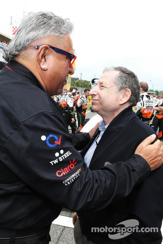 Dr. Vijay Mallya, Sahara Force India F1, Teambesitzer; Jean Todt, FIA-Präsident